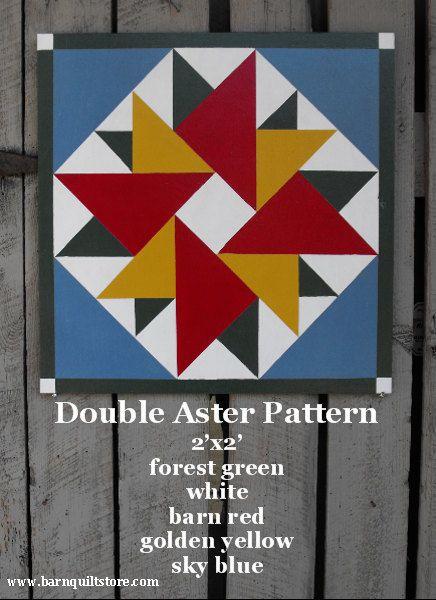 Barn Quilt, Double Aster Pattern | For a wedding | Pinterest ... : quilt block barn signs - Adamdwight.com