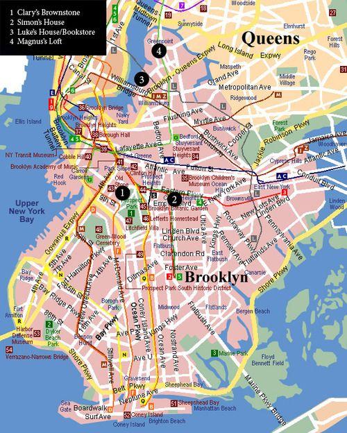 Tmi Brooklyn Map Karte Von New York Landkarte New Jersey