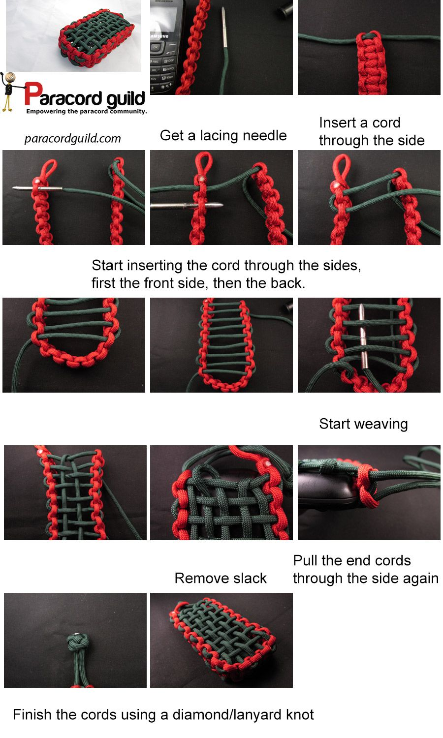 Making a paracord pouch to protect your riches! After