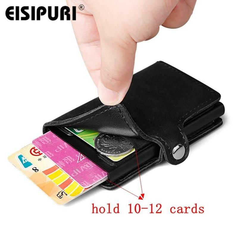 Metal Aluminum Alloy Slim Pocket Men Business ID Credit Card Holder Case Box HOT
