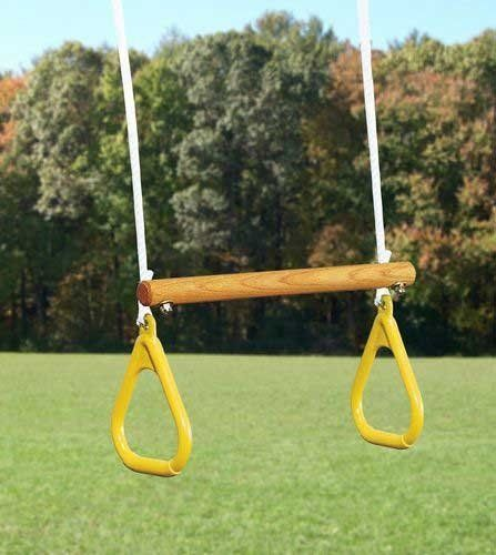 Ring Trapeze With Rope By Playtime Swing Sets 26 51 Builds Coordination And Confidence 18 In Bar 27 5 Inches From Top Of Knot 9