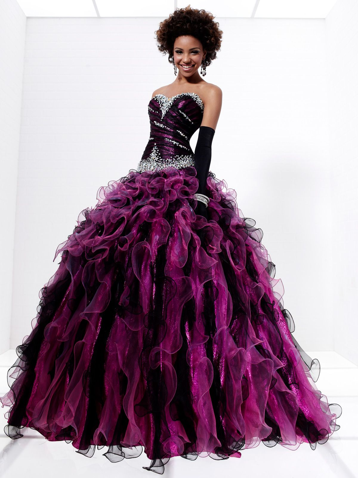 Gorgeous floor-length Tiffany prom gown 16891. This wonderful dress ...