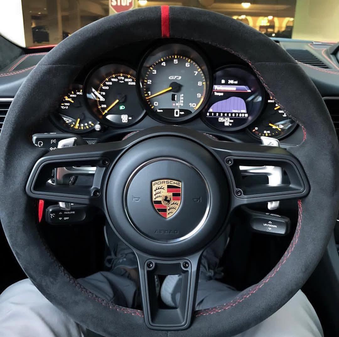 Alcantara Steering Wheel Porsche Gt3 Porsche Gt Porsche Cars