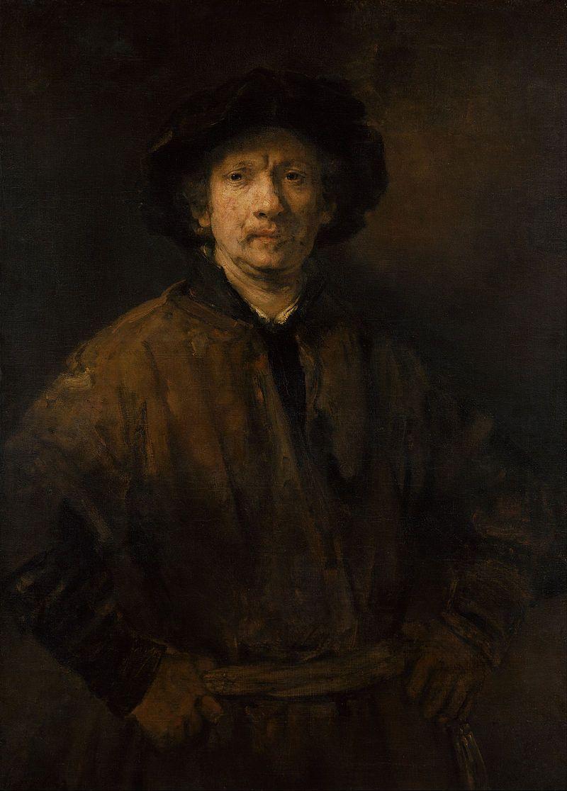Rembrandt Harmenszoon van Rijn - Large Self-Portrait - Google Art ...