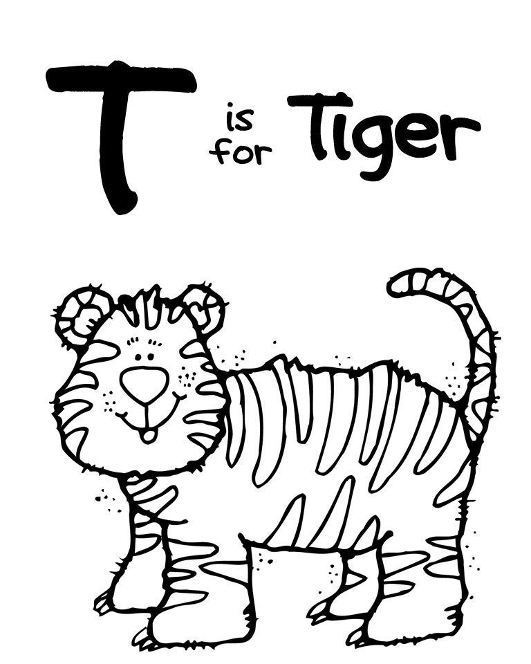 Zoo Coloring Page Letter T Tiger Zoo Coloring Pages Zoo Animal