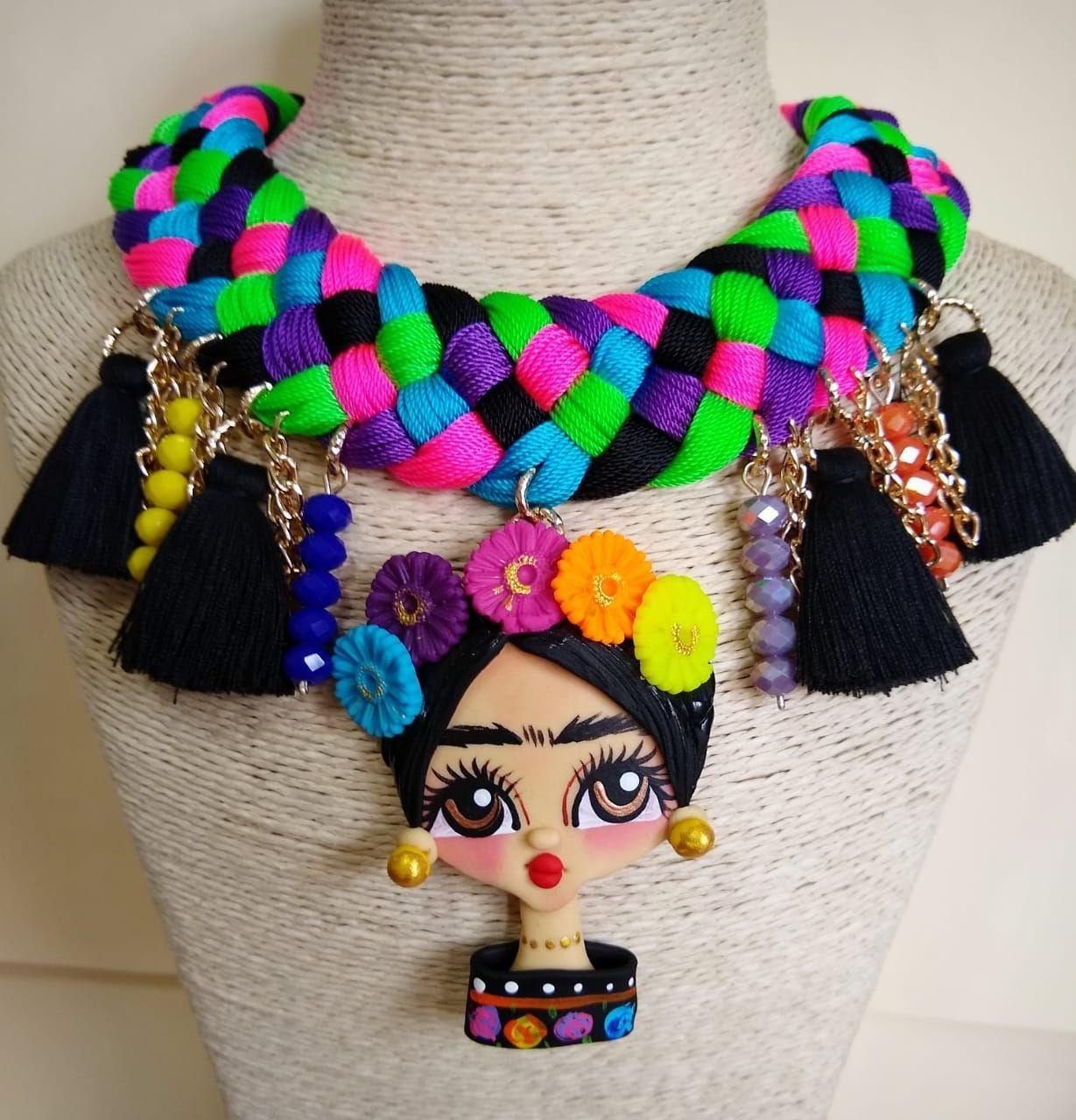 muy baratas nuevo estilo para toda la familia Collares artesanales mexicanos #fridakahlo #modamexicana ...