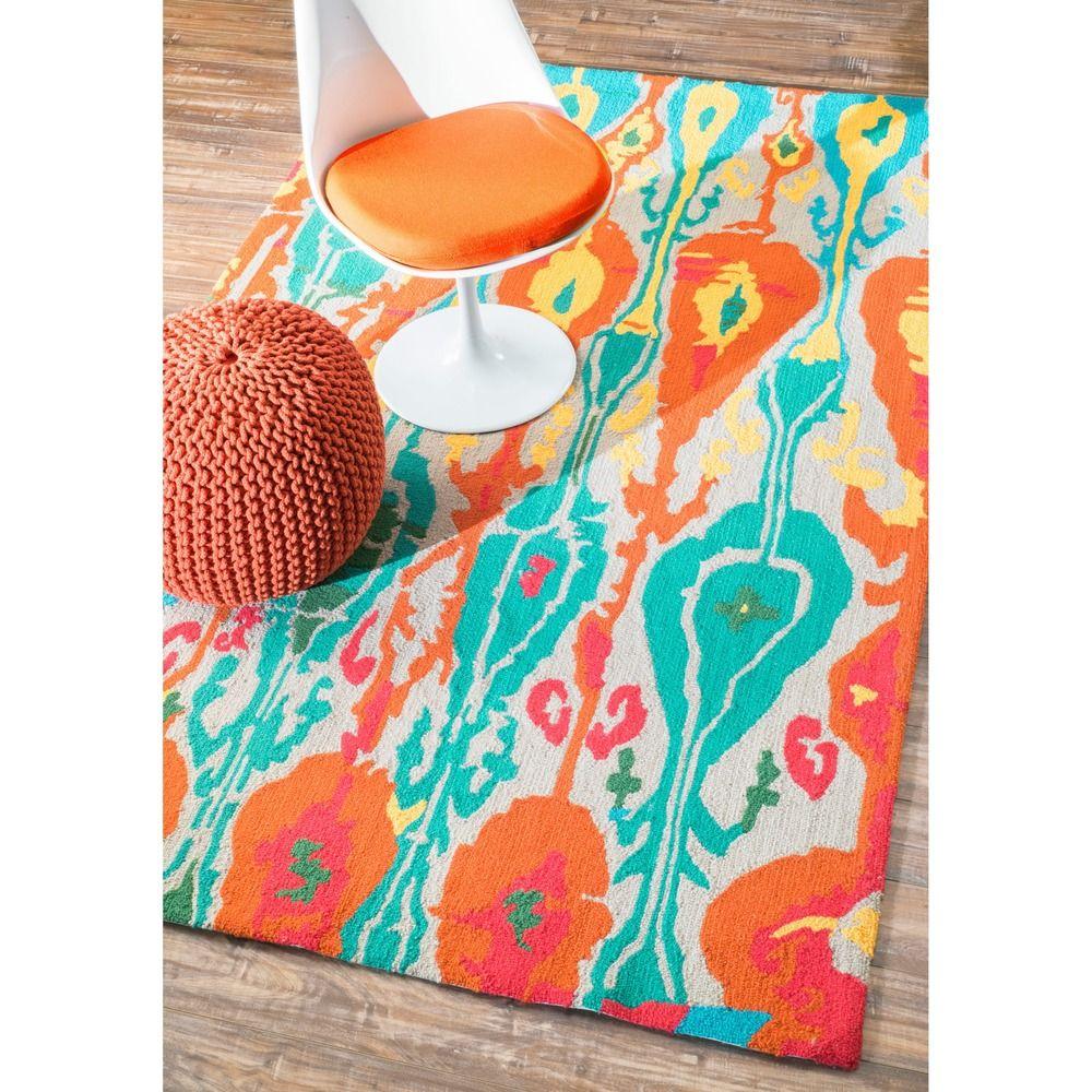 nuLOOM Handmade Wool Modern Ikat Multi Rug (3'6 x 5'6) - Overstock™ Shopping - Great Deals on Nuloom 3x5 - 4x6 Rugs