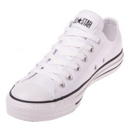 The Converse Chuck Taylor All Star Leather White Low Top