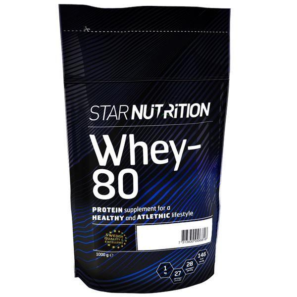 Star Nutrition Whey 80 1kg Proteinpulver Traning