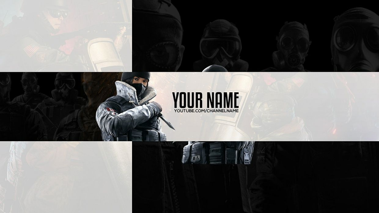 Free Rainbow Six Siege YouTube Banner Template for Photoshop    Free     Free Rainbow Six Siege YouTube Banner Template for Photoshop