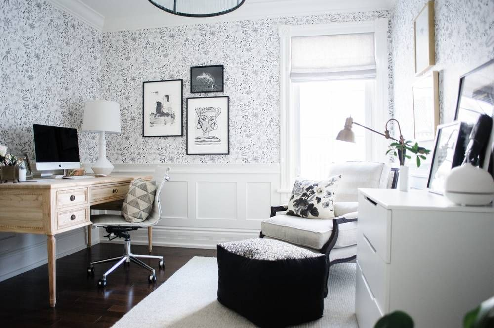 Designing a Black and White Home Office That Inspires   Interiors ...