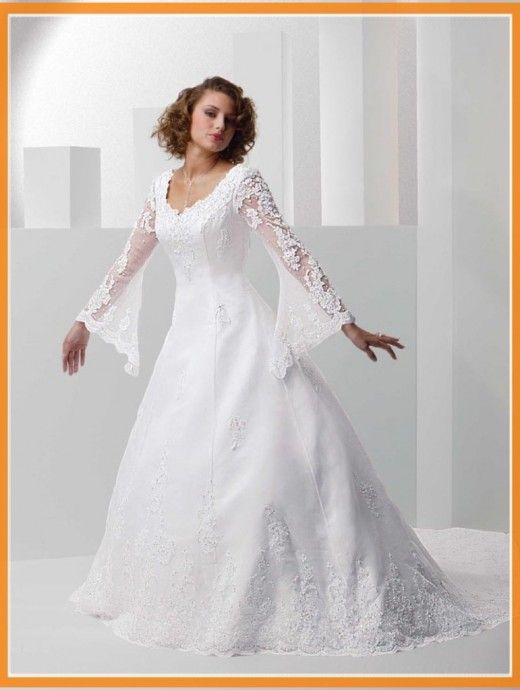 tall non traditional with sleeves plus size wedding dresses | Plus ...