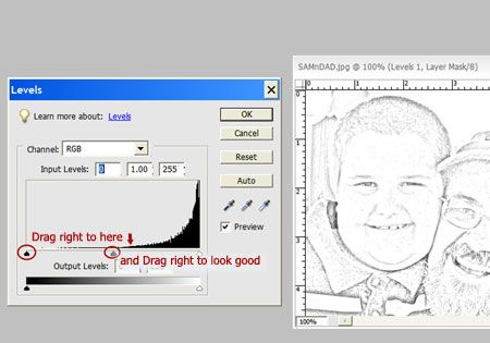 converting a photo to a sketch in PSE   Sketching Tips   Sketching