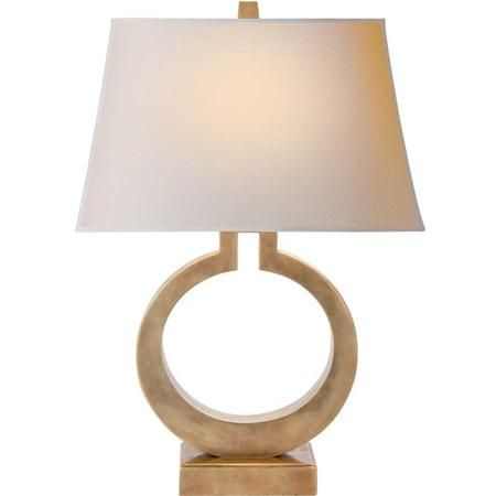 Keyhole ring table lamp contemporary table lampscirca