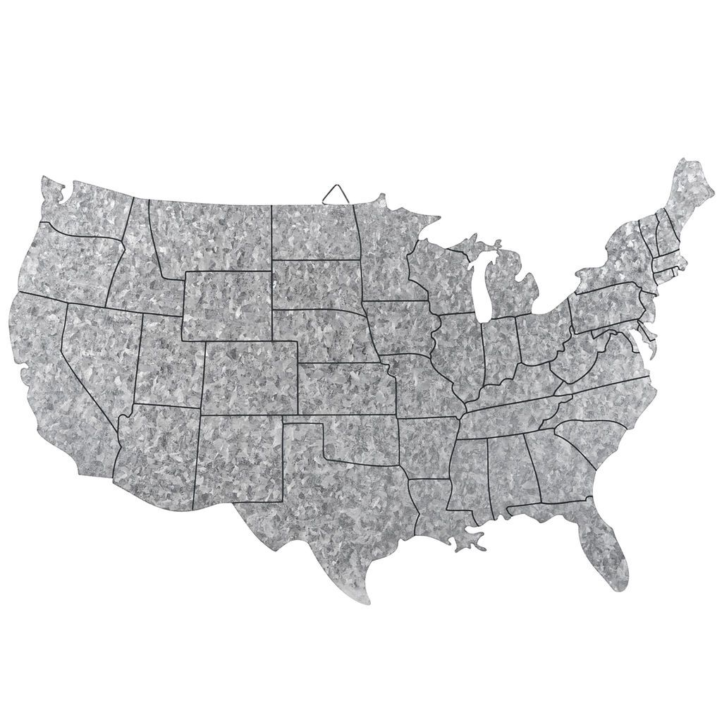 Purchase The Craft It Galvanized US Map By ArtMinds At - Michaels us map