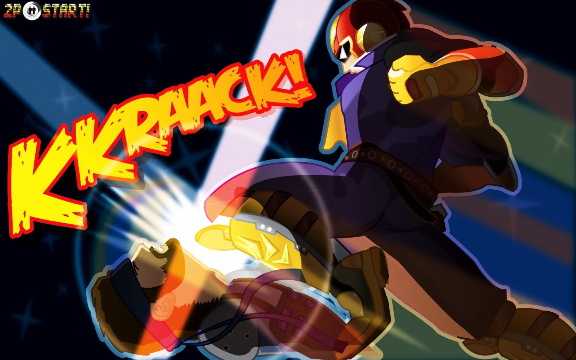 captain falcon wallpaper falcon punch ! | anime wallpaper hd