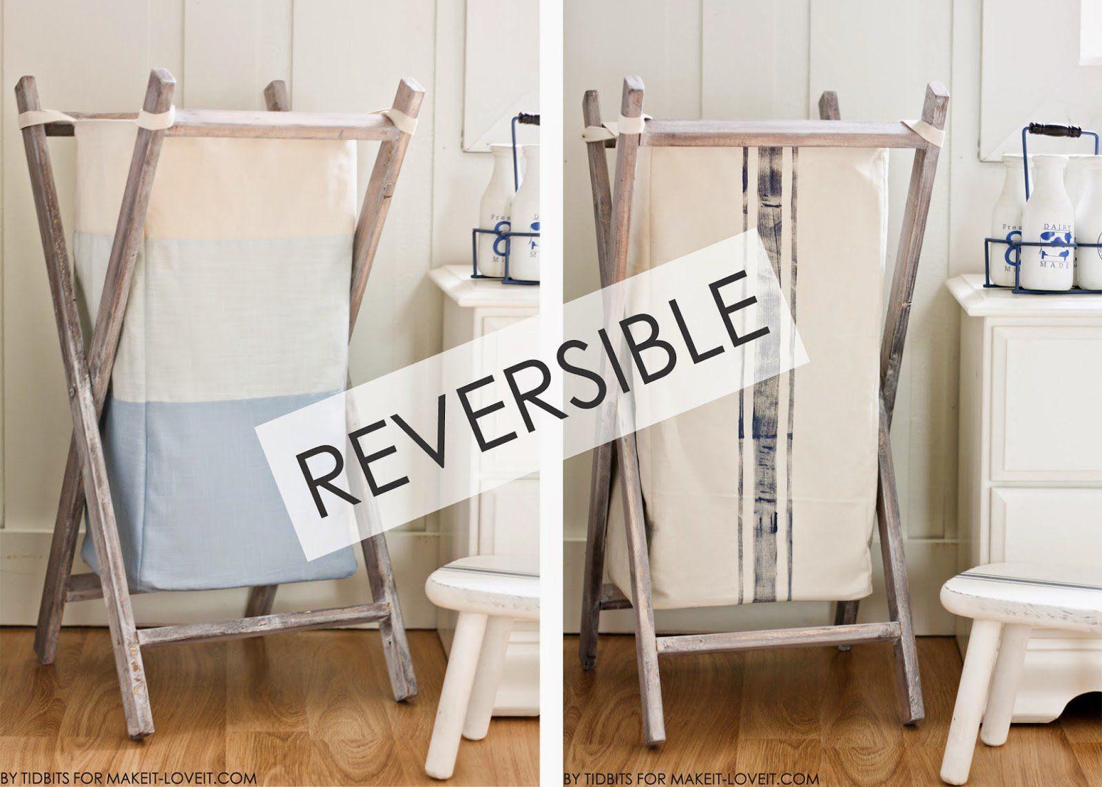Exceptional DIY Foldable Wood Hamper Wih Reversible Bag Insert (makeit Loveit.com)