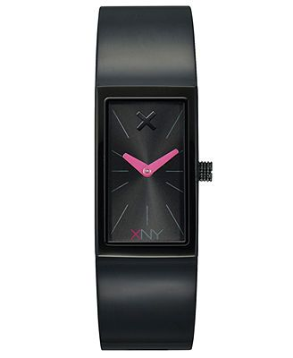 XNY Watch, Women's City Chic Black Ion-Finish Stainless Steel Bracelet 34x20mm BV8096X1