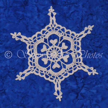 Six Point Century Snowflake Free Pattern Using British Terminology