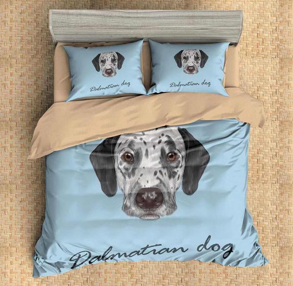 3d Customize Dalmatian Dog Bedding Set Duvet Cover Set Bedroom Set Bedlinen Duvet Bedding Sets Duvet Cover Sets Duvet Covers