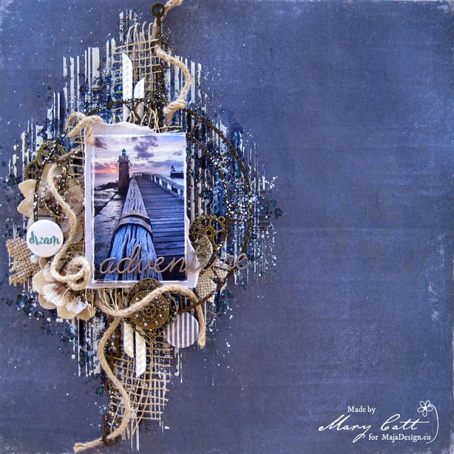 Mary's Crafty Moments: ''Dream Adventure'' - DT Layout for Maja Design August Inspiration