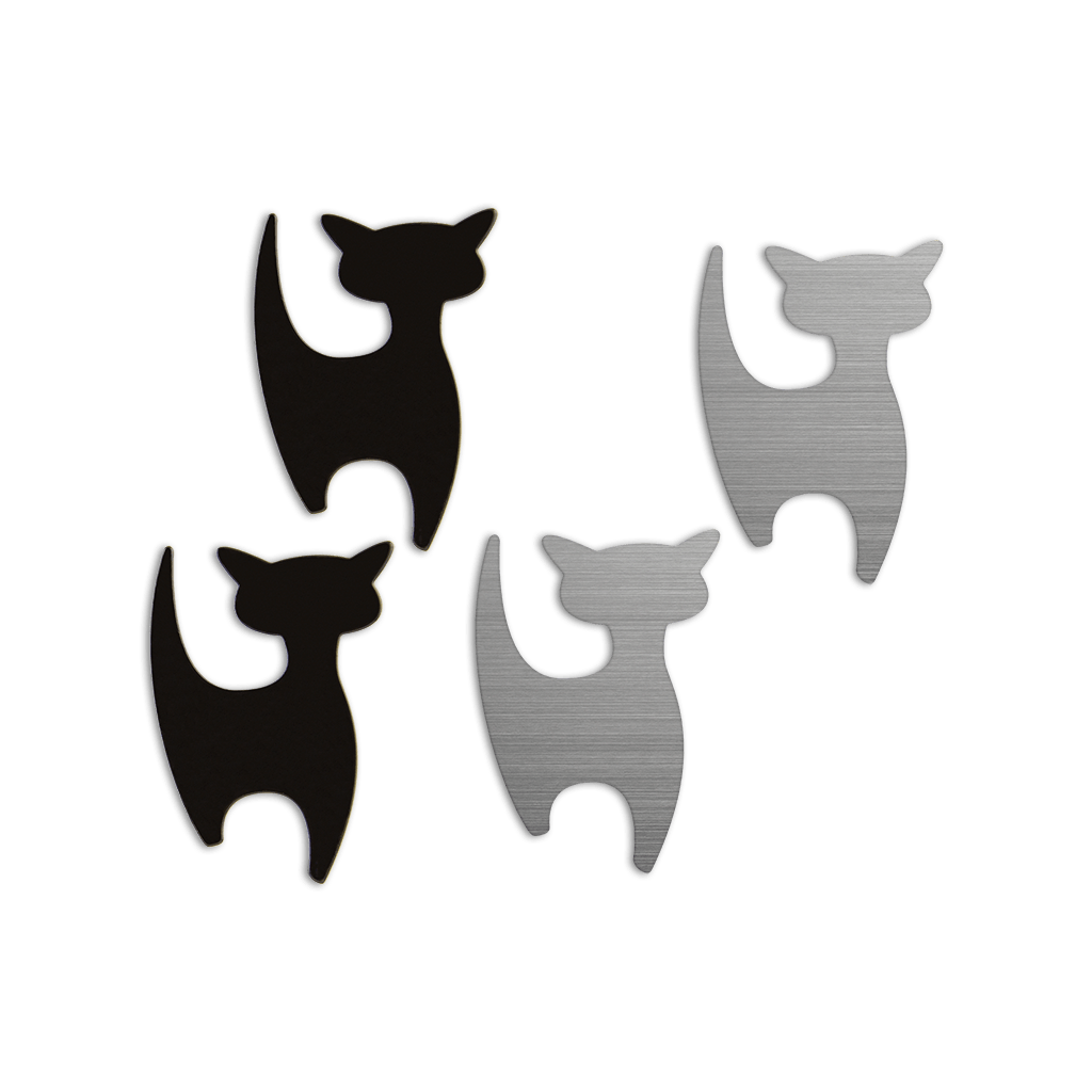 shape·up! metal magnets   cats