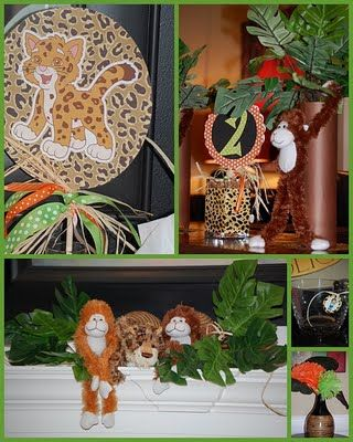Diego party decorations work for jungle theme.