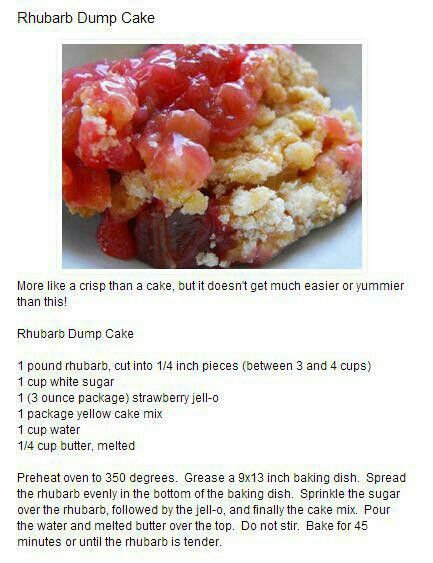 Strawberry Rhubarb Dump Cake Without Jello