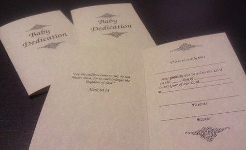 Printable Baby Dedication Certificates  MotherS Day Crafts