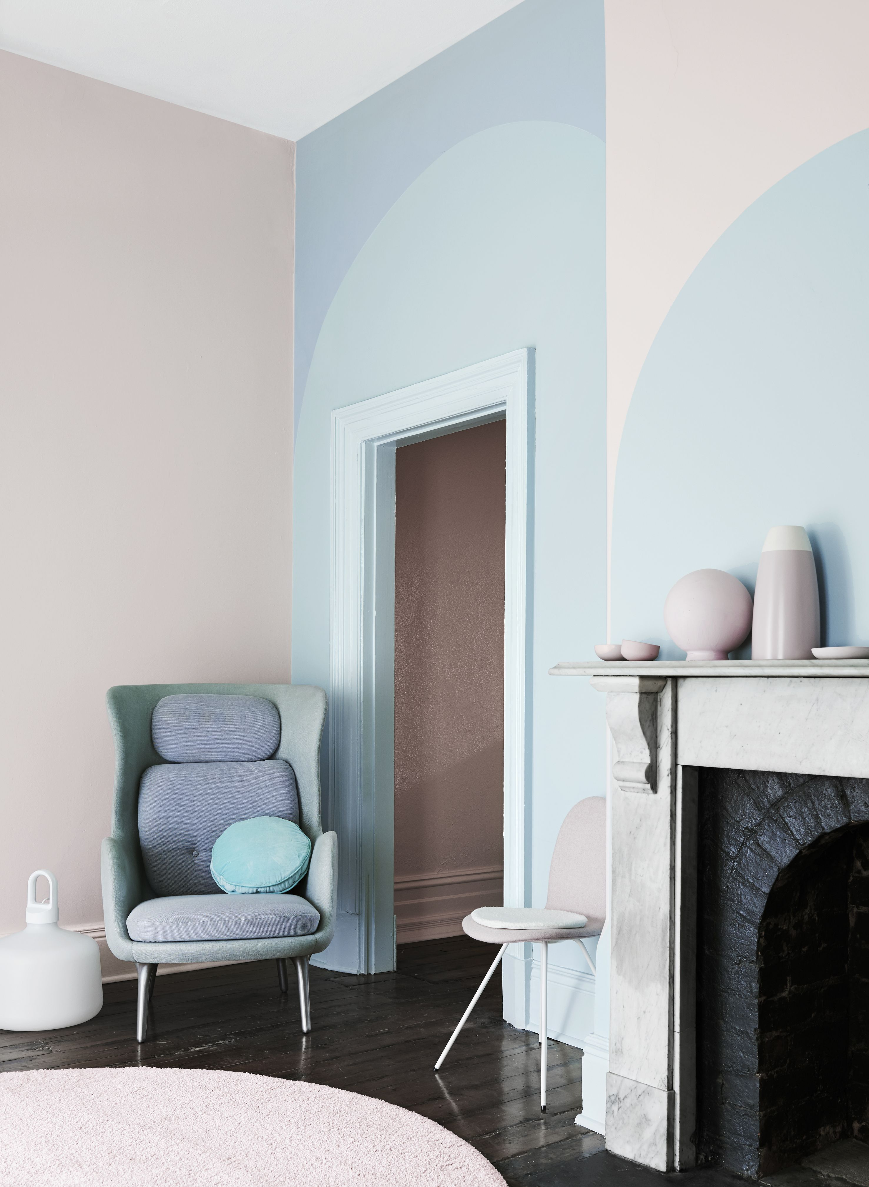 Silent Shift Get The Look Dulux Paints Salmongrey Filippa Pinkmarble Decor Interior Room Decor