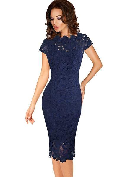 d6ddd7638 Short Dress Formal Cocktail Mother Of Bride - The Dress Outlet Vestido  Curto