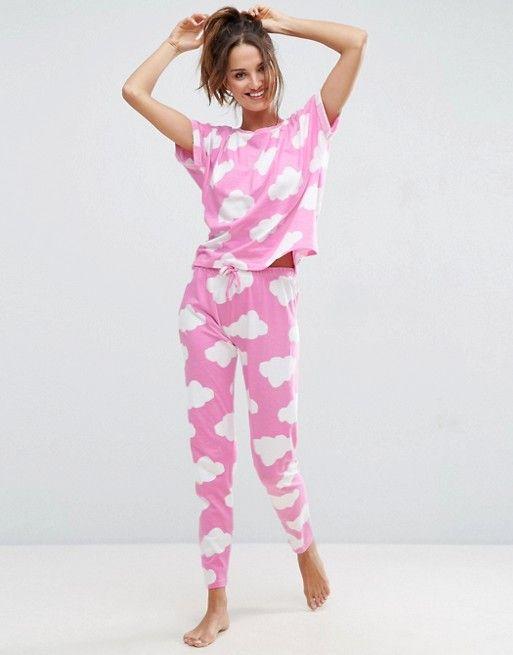 d839121fe30 Cloud Print Tee   Legging Pajama Set in 2019