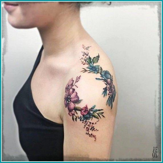 Imagenes De Tauajes De Rosas En El Hombro Para Mujeres Los Henna