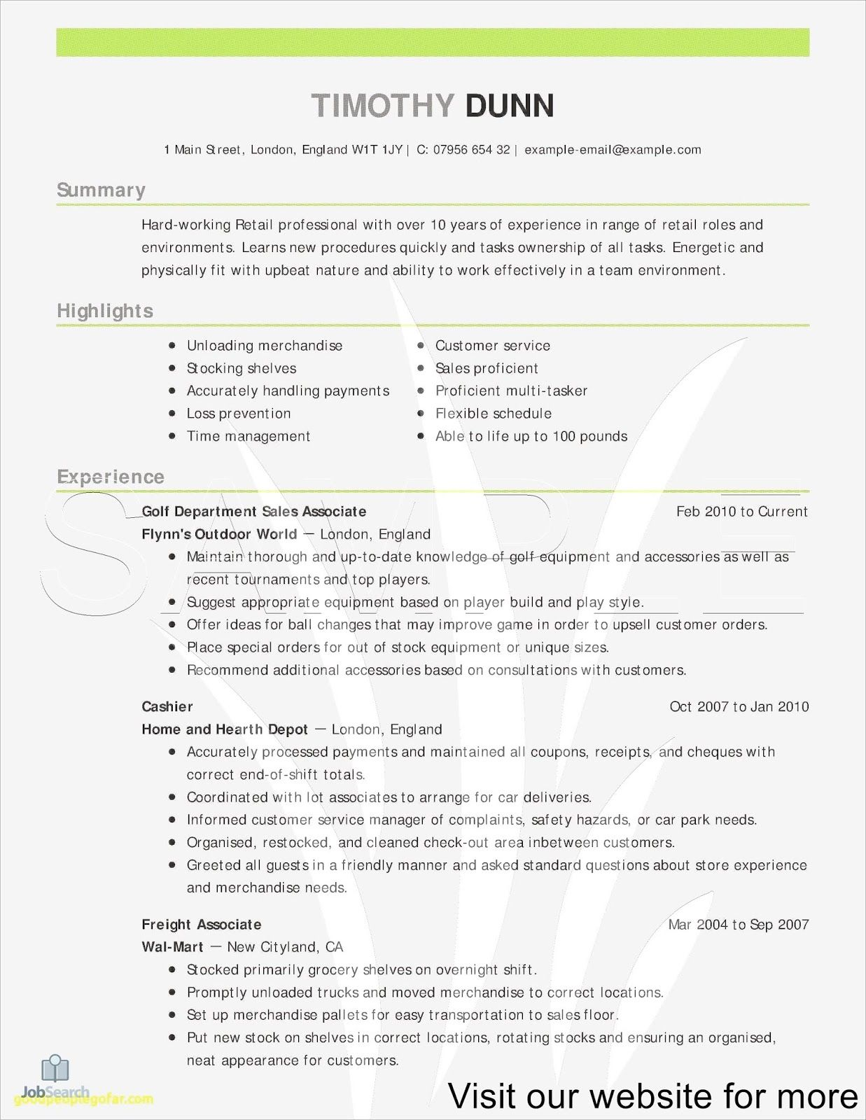 Sample resume for a sales manager Sales resume, Sales