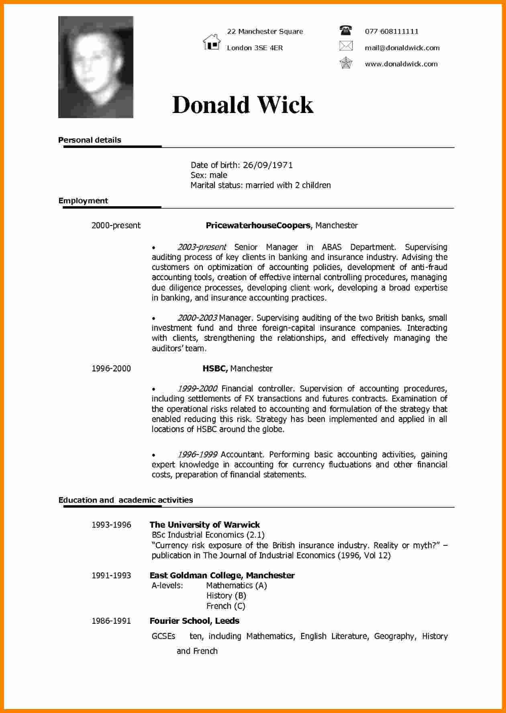 Cv Templates English 2 Templates Example Templates Example Free Resume Template Word Resume Templates Cv Template
