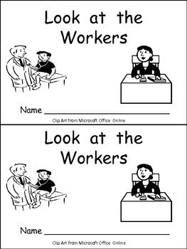 Labor Day- Look at the Workers Emergent Reader