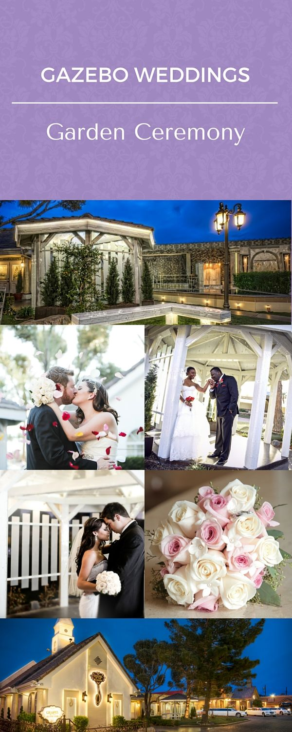 Gazebo Weddings At Chapel Of The Flowers Historic Las Vegas Wedding Venue This Outdoor Garden Wedding Venue Gazebo Wedding Vegas Wedding Venue Vegas Wedding