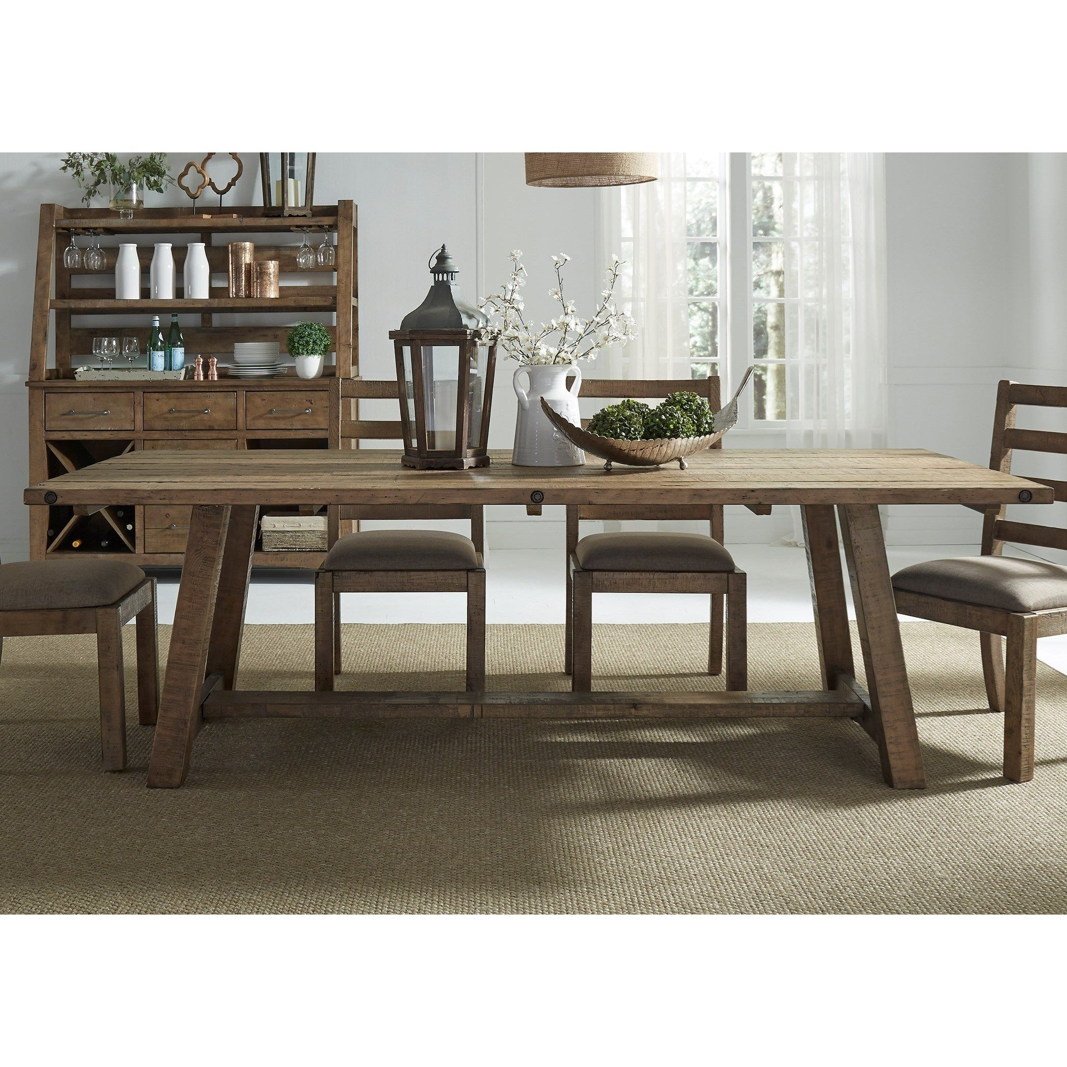 Prescott Valley Dining Rustic Dining Table By Liberty Furniture