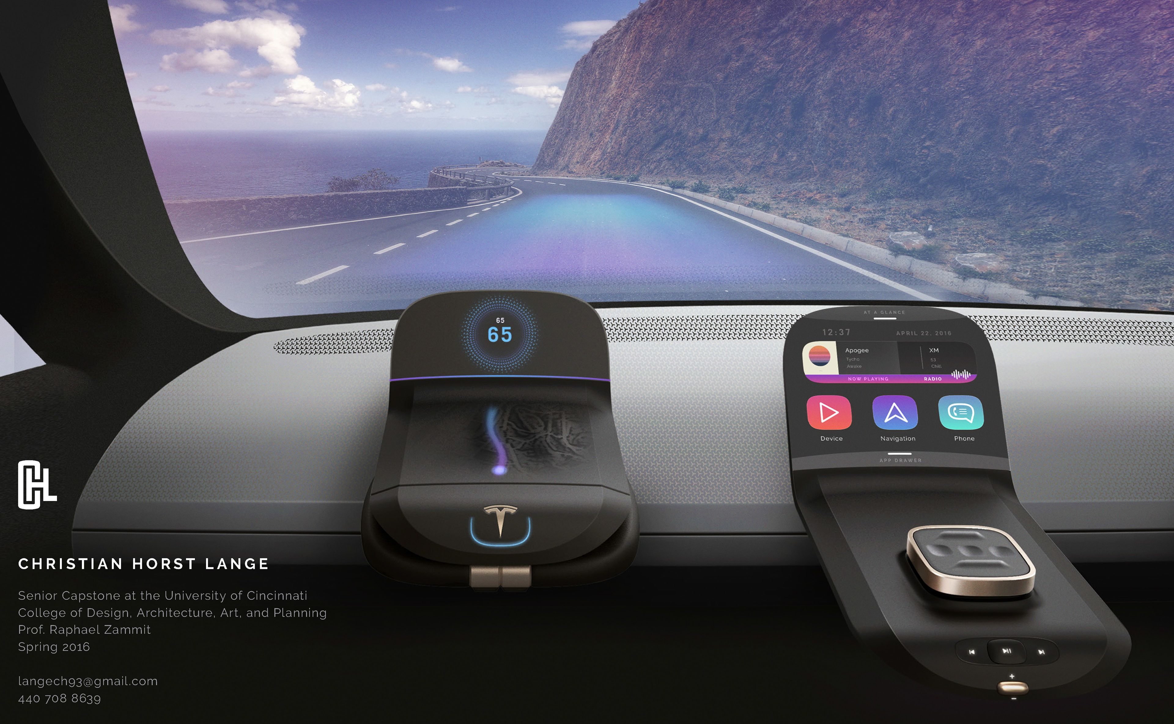 Winner best hmi ux design car design awards 2016 what - Ways to customize your car interior ...