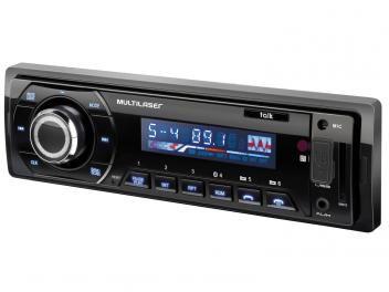 Som Automotivo Multilaser Auto Radio Talk Bluetooth Mp3 Player