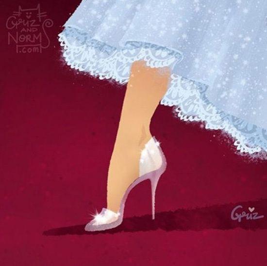 迪士尼設計師畫出《公主們高跟鞋》原來裙襬下藏著這些秘密 - 圖片2