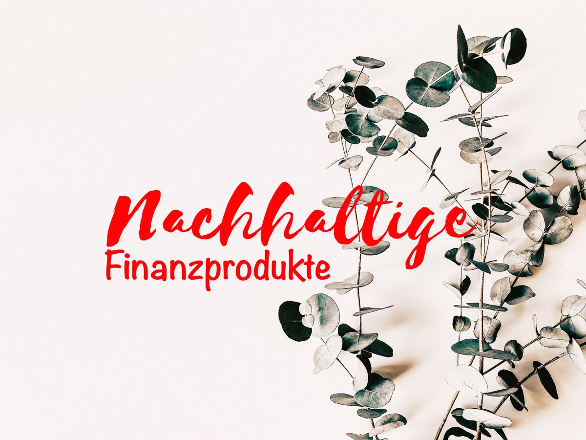 Nachhaltige Finanzprodukte In 2020 Finanzen Nachhaltigkeit Produkt