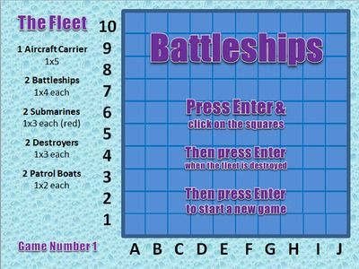 Battleships on PowerPoint (games 31-40) from The Superstore