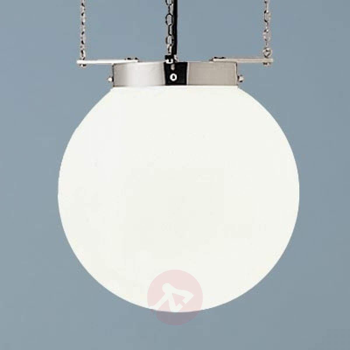 Lampa Wisząca W Stylu Bauhaus Nikiel 40 Cm Lampy Wiszące W