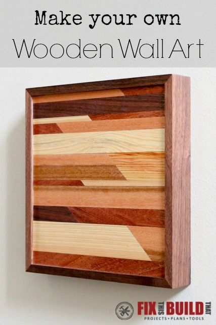 How To Make Wooden Wall Art Project Plans Free Diy