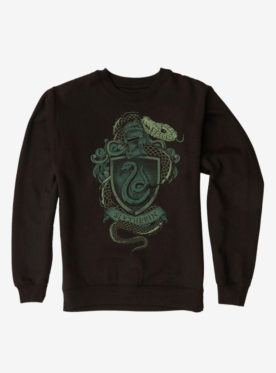 Harry Potter Slytherin Logo Sweatshirt Sweatshirts Slytherin Varsity Hoodie [ 1200 x 889 Pixel ]
