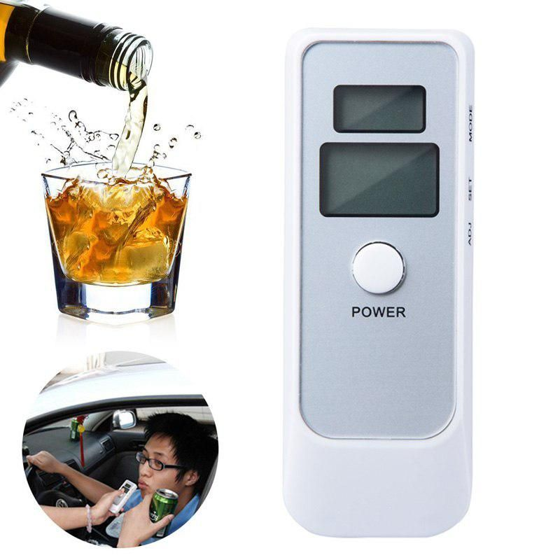 White Alcohol Breathalyzer Professional Breath Parking Detector Gadget Police Digital Breath Alcohol Tester Yesterdays Price Us  04 Eur