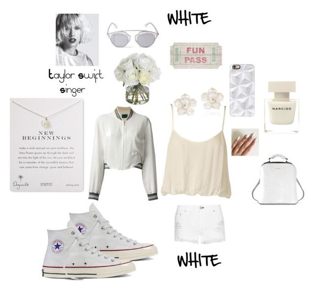 """""""WHITE: New Beginnings"""" by mandimwpink ❤ liked on Polyvore featuring AeraVida, DKNY, Christian Dior, Narciso Rodriguez, Casetify, rag & bone, Diane James, Nookie, Jean-Paul Gaultier and Dogeared"""