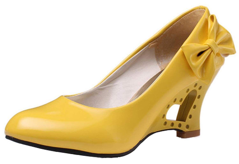 601b56e3fd9 IDIFU Women s Sweet Bow Wedge Heart Kitten Heels Pumps Work Office Shoes.  This pair of