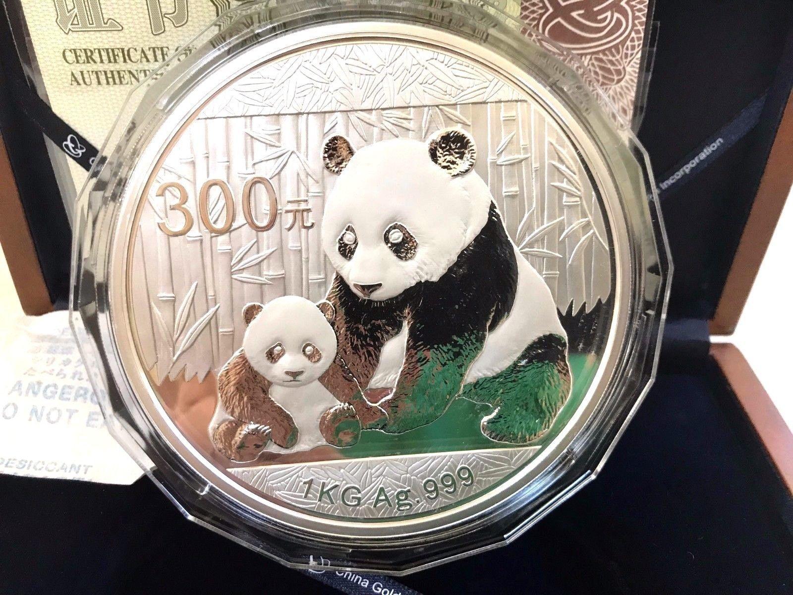 China kilo yuan silver proof panda woriginal box and coa